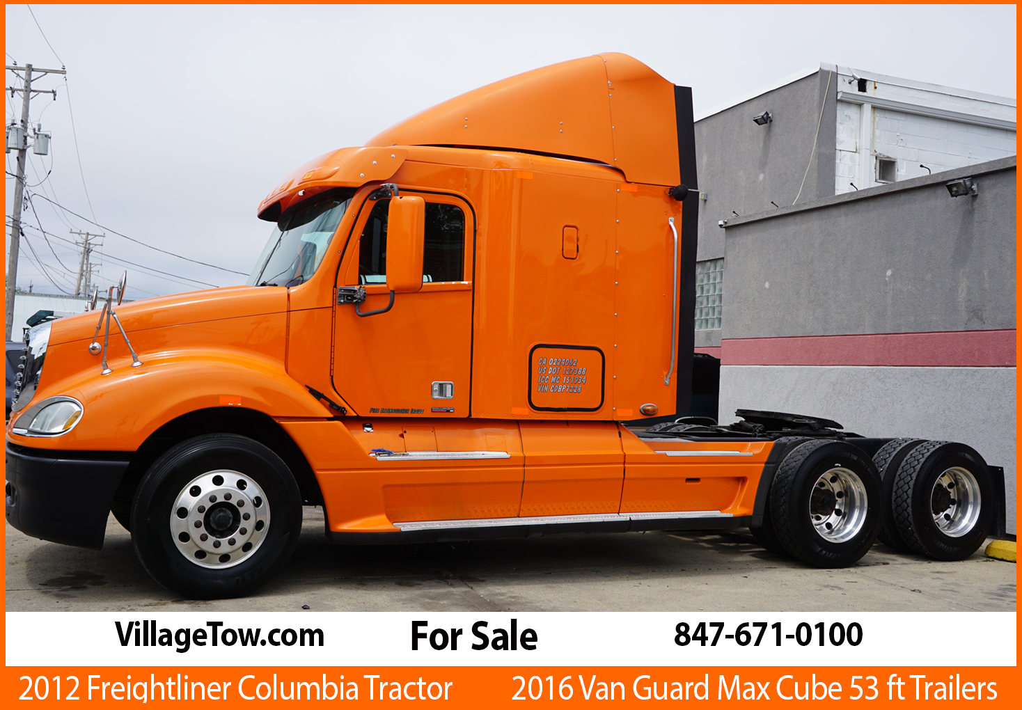 2012 Freightliner Columbia Tractor for Sale