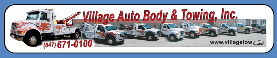 847-671-0100 Village Auto Body & Towing, Inc.9344 Byron St. Schiller Park, Il. 60171 Wholesale Quality Used Cars, Emergency Towing, Car & Truck Restorations, Oil Change Services